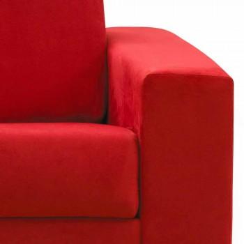 Moderne design driezitsbank in eco-leer / stof gemaakt in Mora, Italië