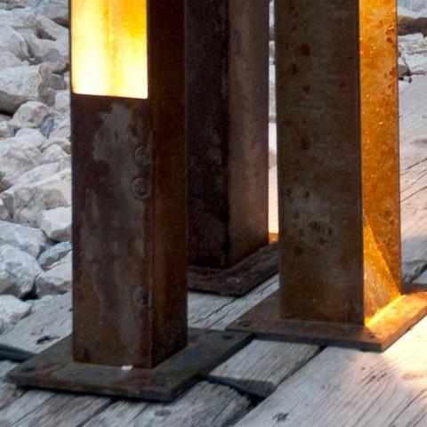 Artisanale buitenspot in Iron Corten-afwerking Gemaakt in Italië - Sparta