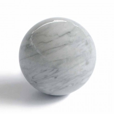 Moderne bal presse-papier in Bardiglio grijs marmer gemaakt in Italië - bol