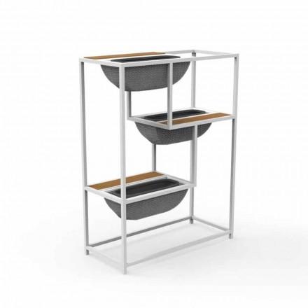 Moderne rechthoekige plantenbak in luxe design aluminium - Jackie van Talenti