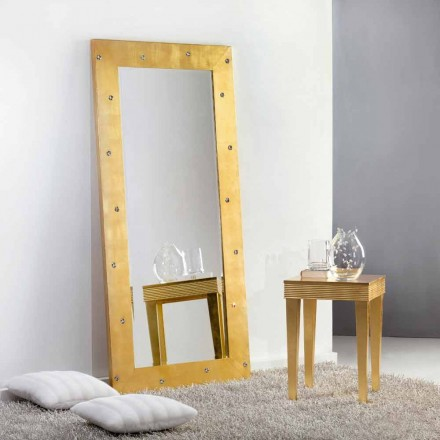 Grote spiegel vloer / wand met Swarovski kristallen Vivien