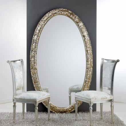 Grote ovale spiegel van de vloer / muur Life, 114x190 cm