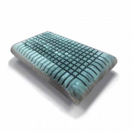 Ergonomisch Memory Xform kussen 12 cm hoog Made in Italy, 2 stukken - Clementino