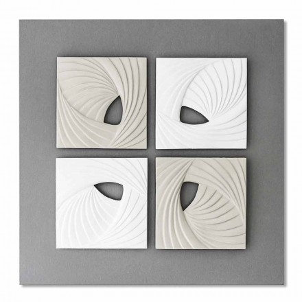 Wit en grijs modern design decoratieve muurinstallatie - bazig