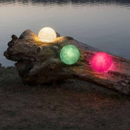 Outdoor wandlamp In-es.artdesign Button Out in gekleurde nebulite