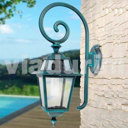 Tuin wandlamp mnade met aluminium, geproduceerd in Italië, Kristel