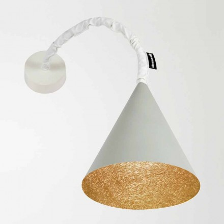 Design wandlamp In-es.artdesign Jazz Cement geverfd