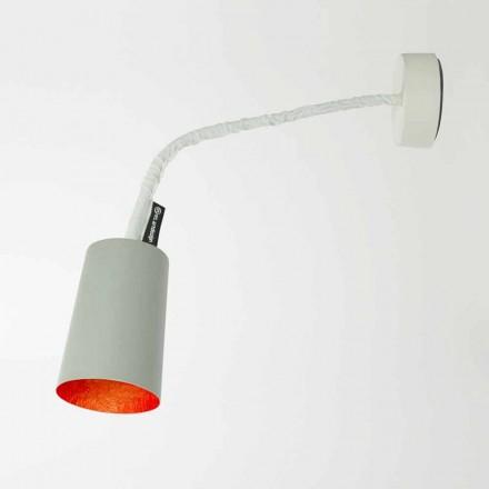 Designer wandlamp In-es.artdesign Verf met geverfd cement