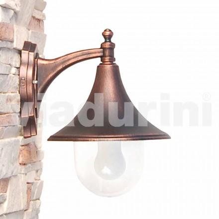 Wandlamp buiten gemaakt van gegoten aluminium, gemaakt in Italië, Anusca