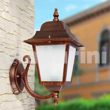 Wandlamp buiten gemaakt van aluminium, geproduceerd in Italië, Aquilina
