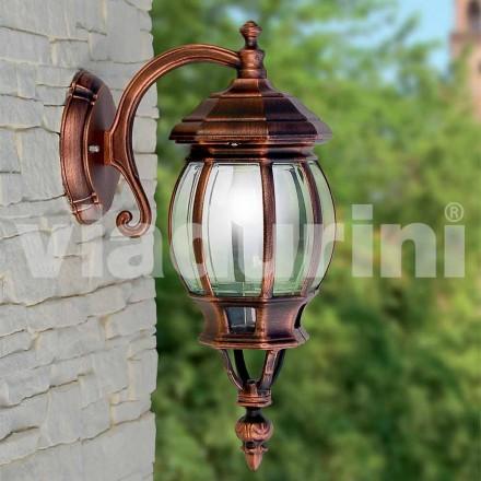 Wandlamp buiten gemaakt van aluminium, geproduceerd in Italië, Anika