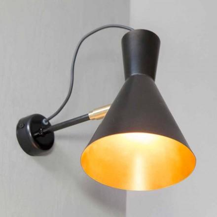 Handgemaakte ijzeren en aluminium wandlamp gemaakt in Italië - Selina