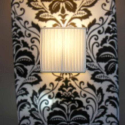 Moderne wandlamp in Bamboo-zijde, ivoorkleur