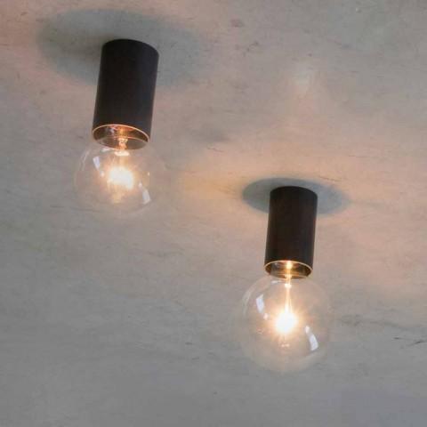 Artisan plafondlamp met zwarte ijzeren structuur gemaakt in Italië - Frana
