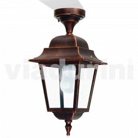 Buiten plafondlamp gemaakt met aluminium, gemaakt in Italië, Aquilina
