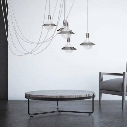 Chromen hanglamp met 5 lampen, modern design