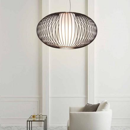 Hanglamp gelakt staal, 90xh.53x L.cavo 100 cm Joy