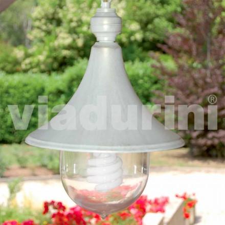 Hanglamp buiten gemaakt van wit aluminium, gemaakt in Italië, Anusca