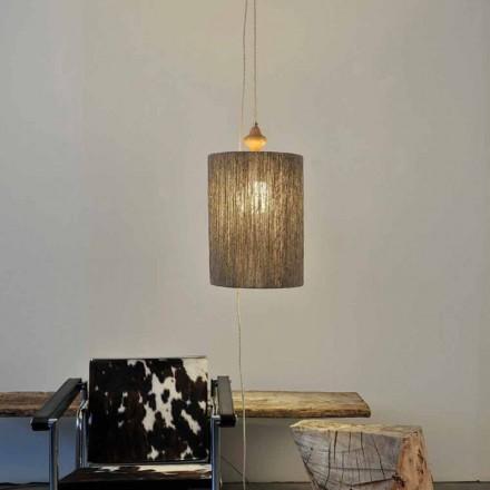 Hanglamp / vloerlamp in hout en 100% Bois wol