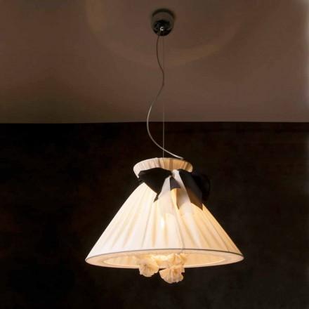 Vintage design hanglamp in Chanel-zijde
