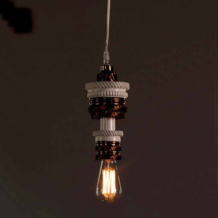 Design hanglamp in keramiek 3 afwerkingen Made in Italy - futurisme
