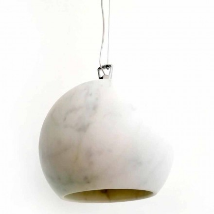 Design hanglamp in wit Carrara-marmer Made in Italy - Panda