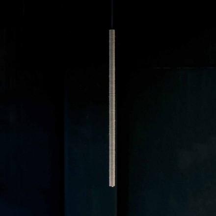 Hanglamp in aluminium bedekt met touw Made in Italy - Ginia