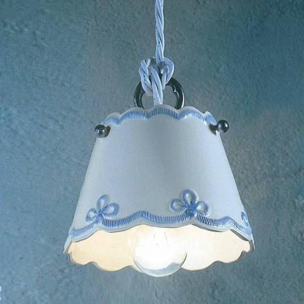 Lamp keramische ophanging met gekleurde band Ferroluce