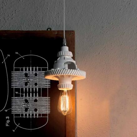 Hanglamp in keramiek in 3 afwerkingen van modern design - futurisme
