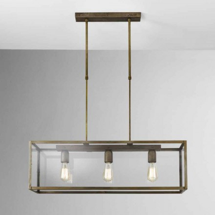 Hanglamp in ijzer en glas London Il Fanale