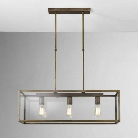 Hanglamp in ijzer en glas London Il Fanale