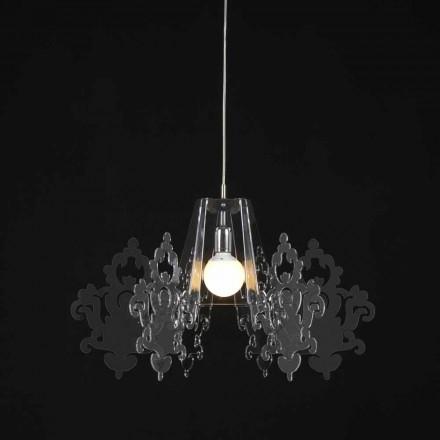 Lamp van gekleurde methacrylaat suspensie Alessia, diameter 70 cm
