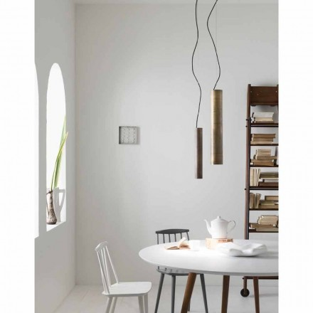 Industriële lamp suspensie Ø 10 cm zonnebloemen Il Fanale