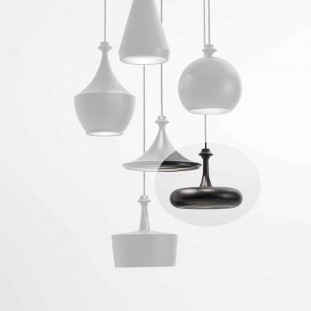 LED-hanglamp Made in Italy in keramiek - L4 pailletten Aldo Bernardi
