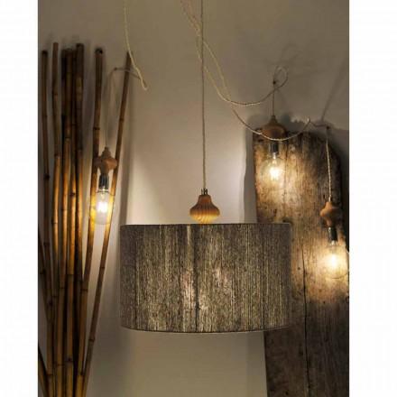 Moderne hanglamp met 4 lampen en Bois-hout