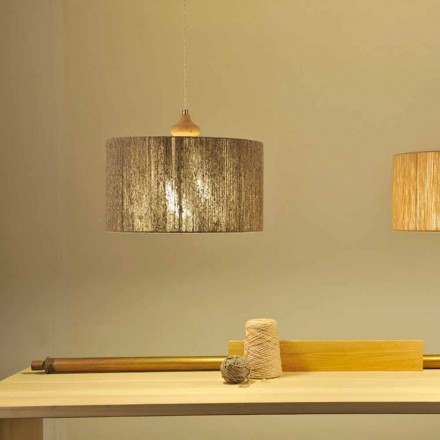 Moderne hanglamp met Bois houten element