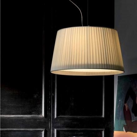 Moderne hanglamp in ivoor Bamboe zijde