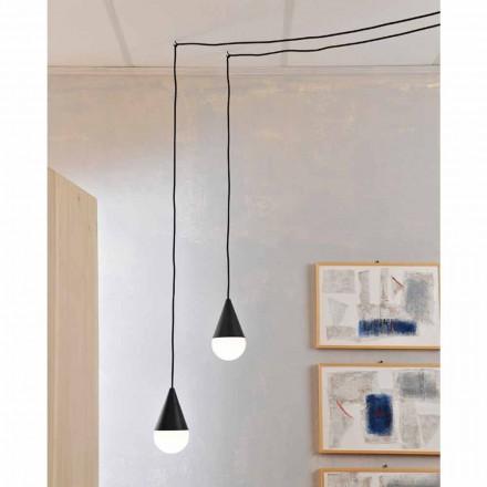 Moderne hanglamp, zwart model Drop