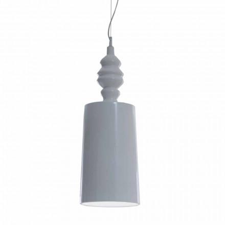Hangende lampenkap in glanzend wit keramiek ontwerp - Cadabra