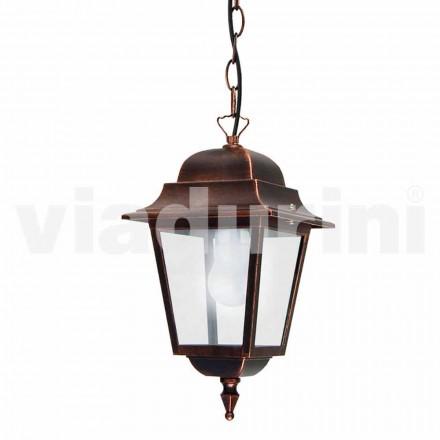 Hanglamp buiten gemaakt van aluminium, gemaakt in Italië, Aquilina