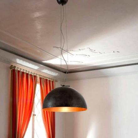 Kleine lamp suspensie in maanlicht stalen