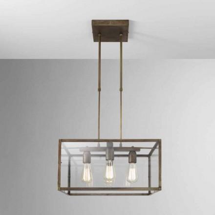 Vierkante plafondlamp in ijzer Londen Il Fanale