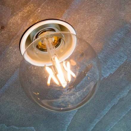 Handgemaakte inbouwlamp in wit aluminium gemaakt in Italië - Frana