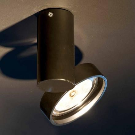 Handgemaakte aluminium lamp met verstelbare ring Made in Italy - Gemina