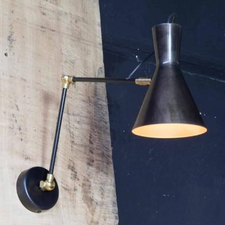 Handgemaakte ijzeren lamp met aluminium kap gemaakt in Italië - Selina