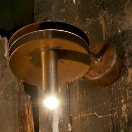 Handgemaakte lamp in ijzercorten en messing afwerking gemaakt in Italië - Solano