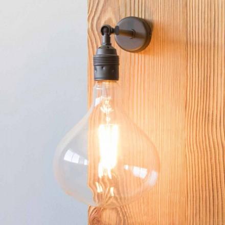 Lamp met handgemaakte gepolijste ijzeren structuur gemaakt in Italië - Alabama