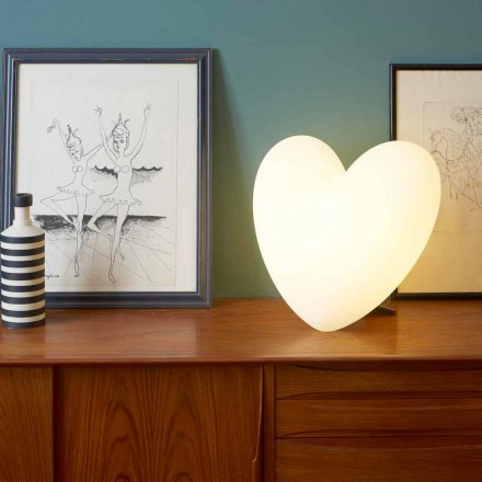 Gekleurde Slide Love tafellamp hart gemaakt in Italië