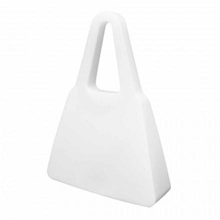 Witte design tafel- of vloerlamp voor binnen of buiten - Borsastar