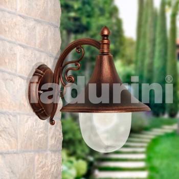 Wandlamp buiten van gegoten aluminium gemaakt in Italië, Anusca